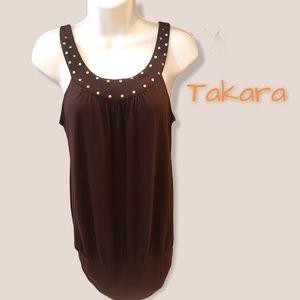 TAKARA • Jersey Cocoon Style Tank